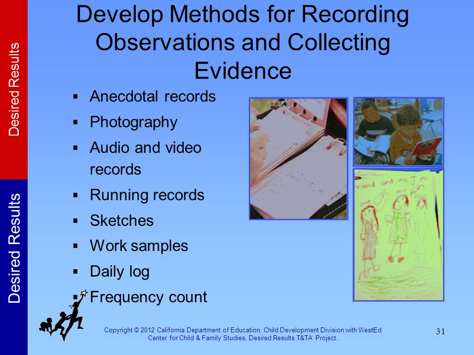 Develop Methods for Recording Observations and Collecting Evidence