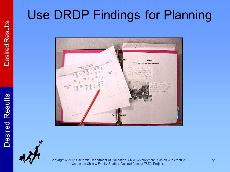 Use DRDP Findings for Planning