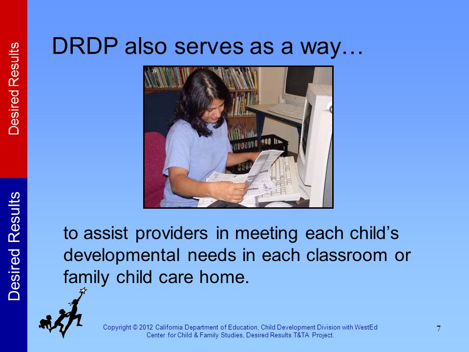 DRDP also serves as a way…