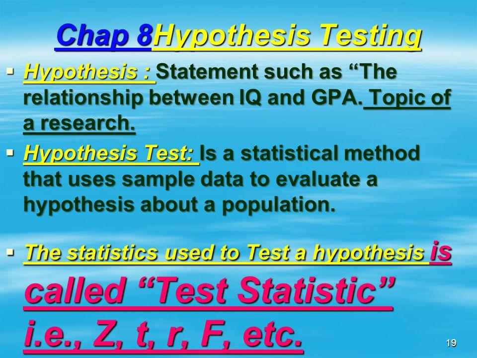 Chap 8Hypothesis Testing