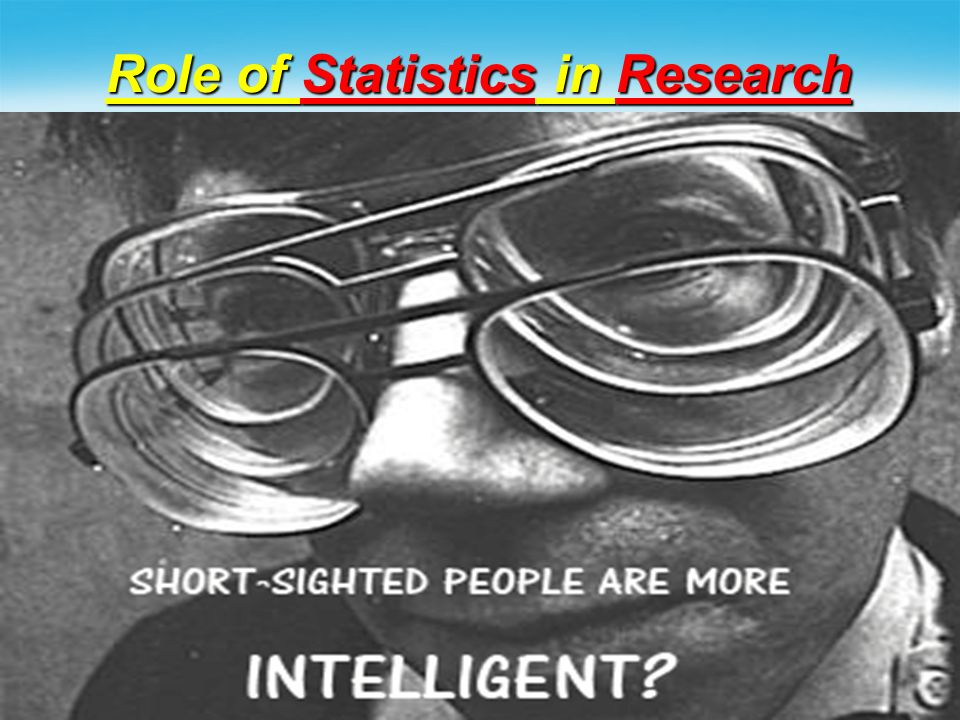 Role of Statistics in Research