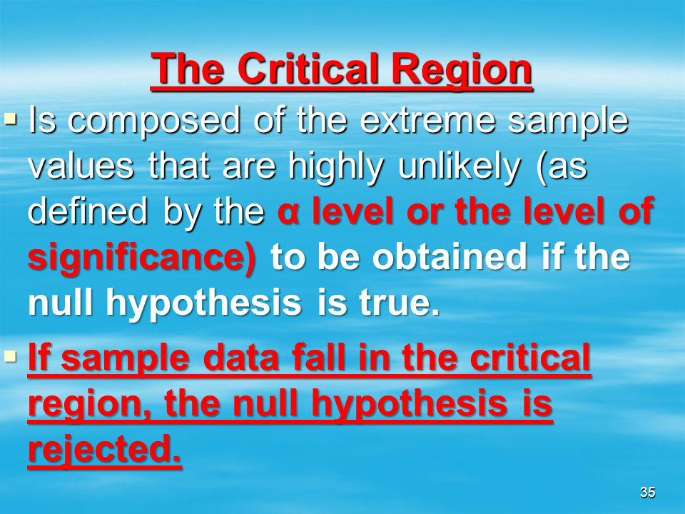 The Critical Region