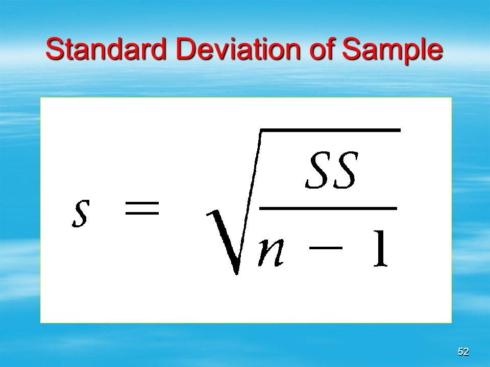 Standard Deviation of Sample