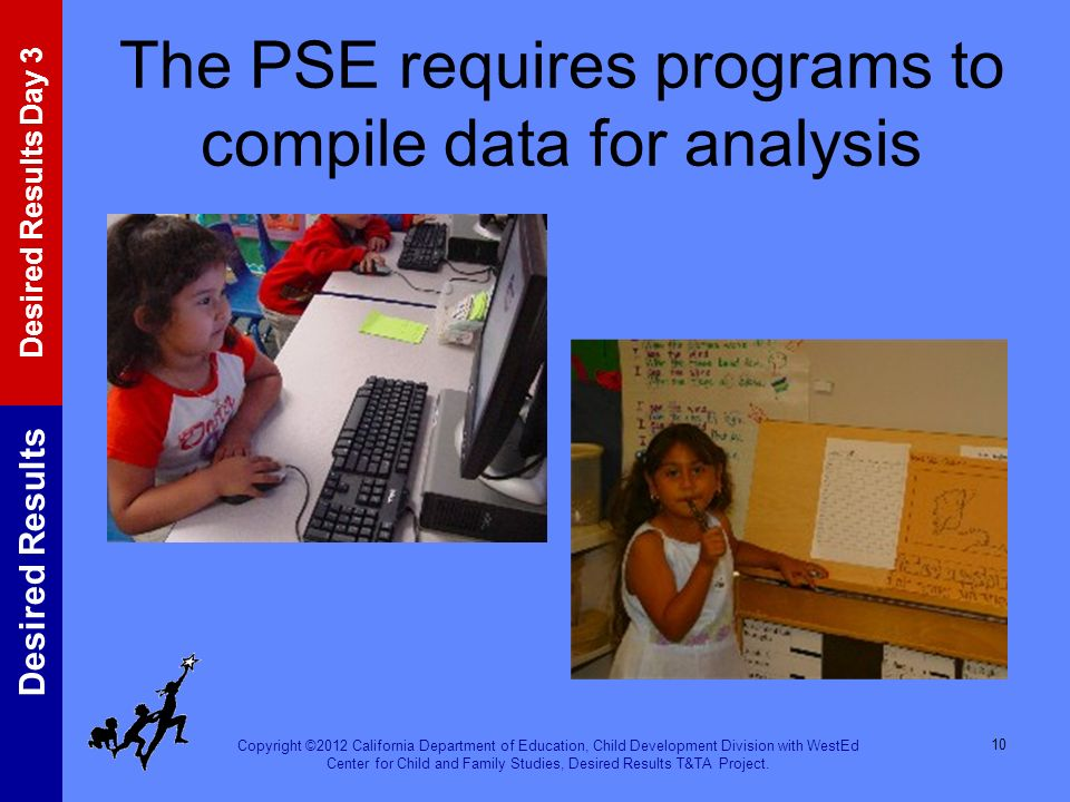 The PSE requires programs to compile data for analysis