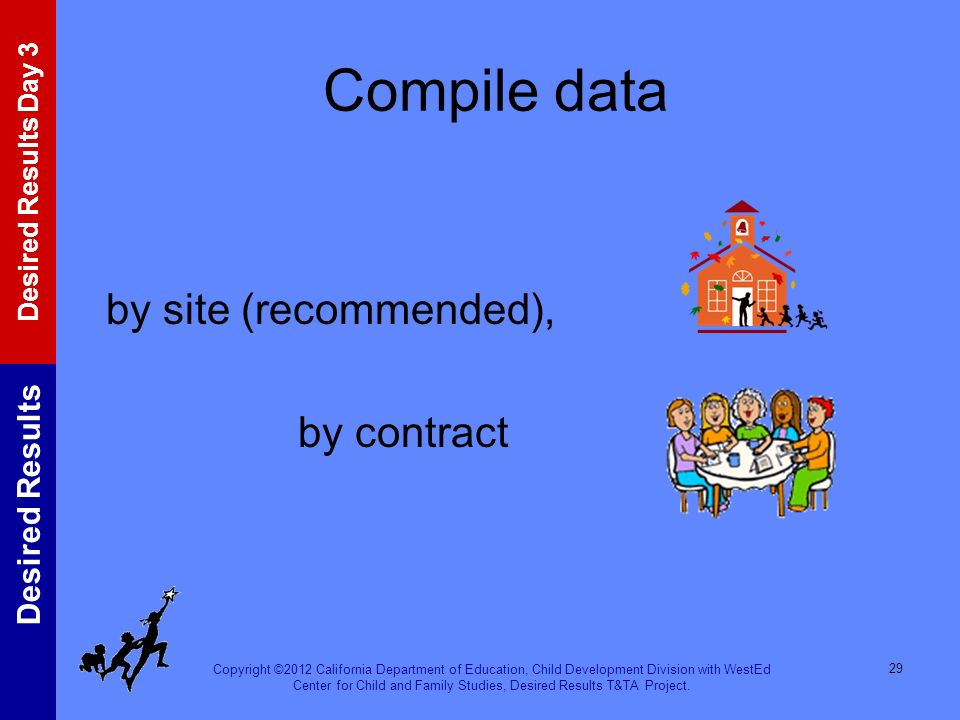 Compile data by site (recommended), by contract