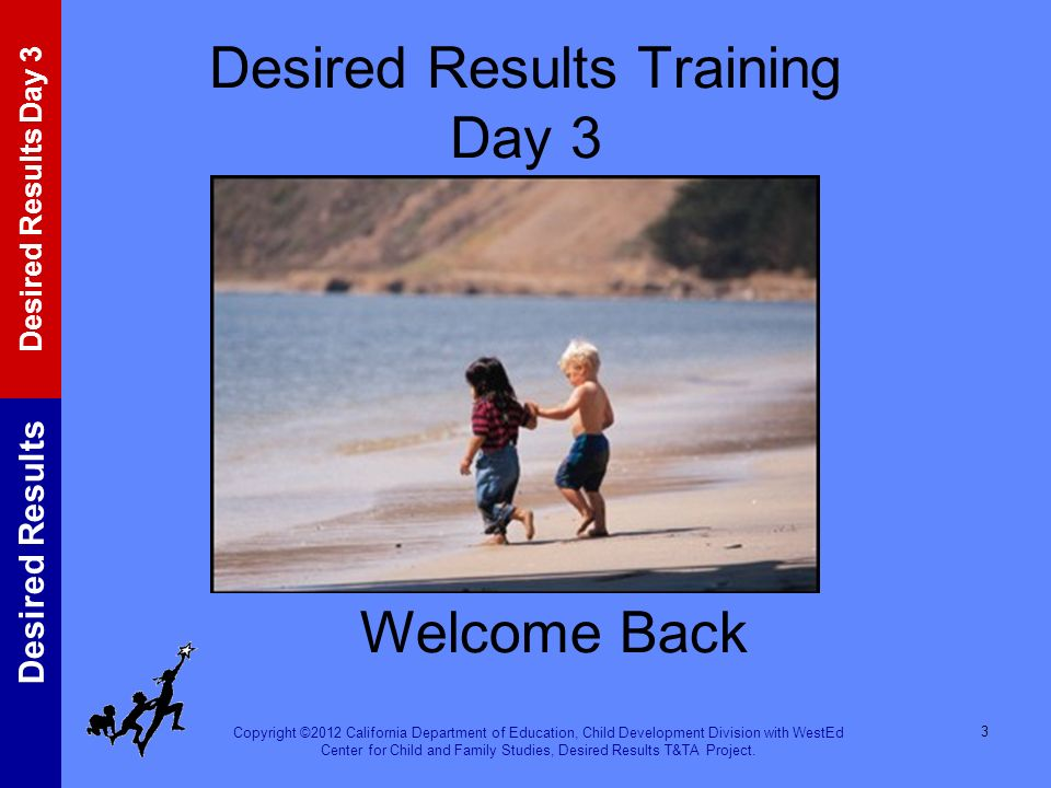 Desired Results Training Day 3