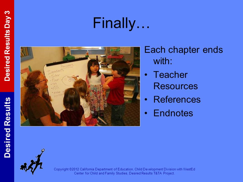 Finally… Each chapter ends with: Teacher Resources References Endnotes