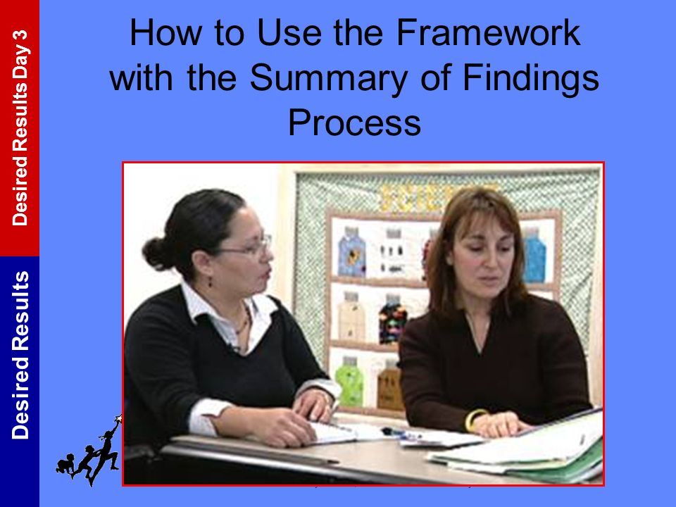 How to Use the Framework with the Summary of Findings Process