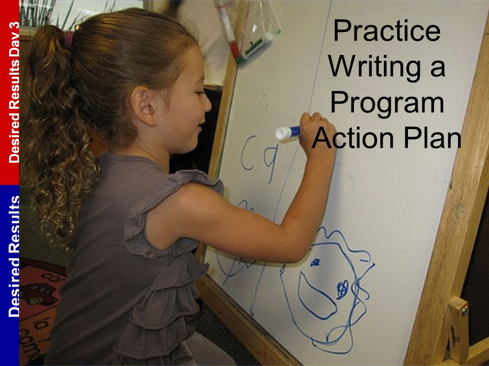 Practice Writing a Program Action Plan