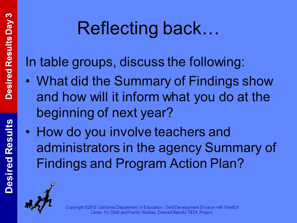 Reflecting back… In table groups, discuss the following: