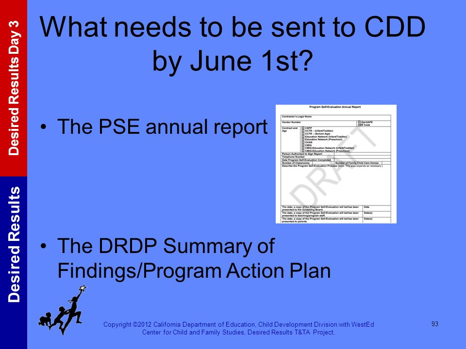 What needs to be sent to CDD by June 1st