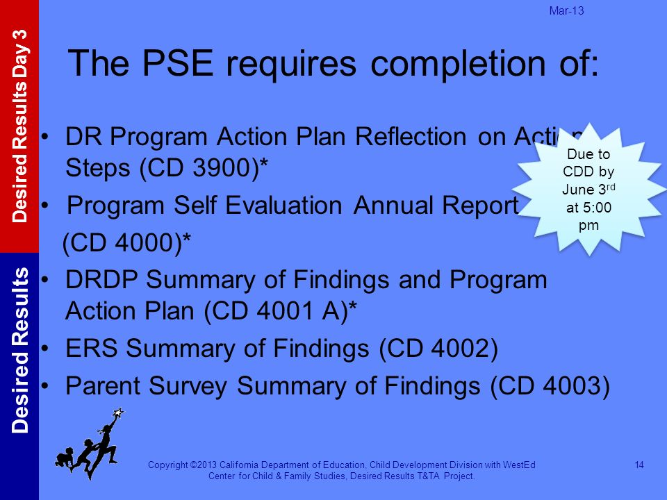 The PSE requires completion of: