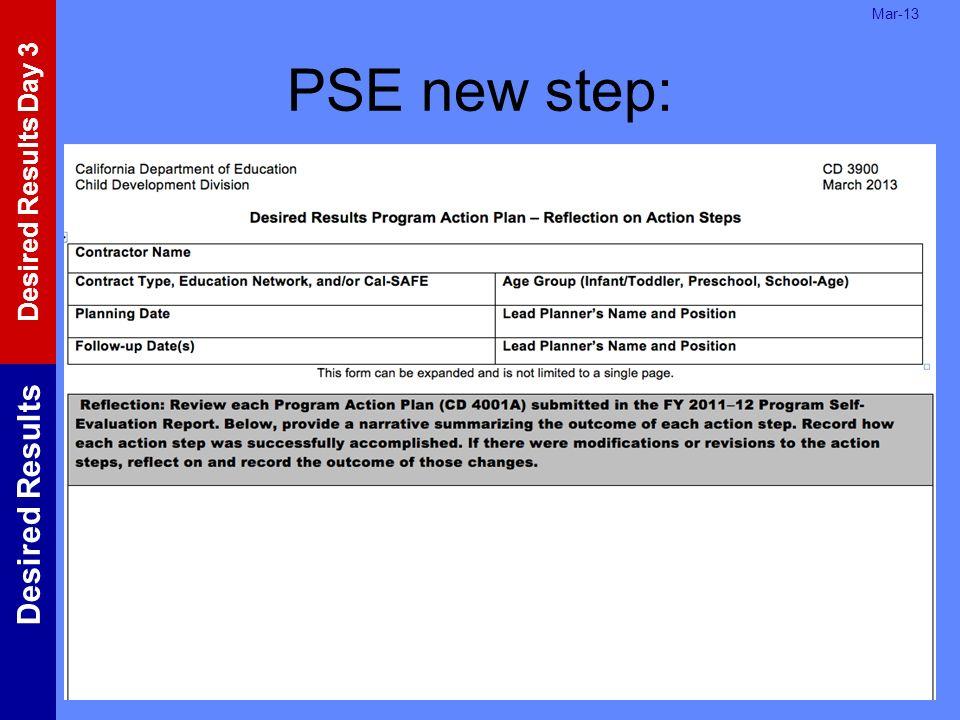 Mar-13 PSE new step: