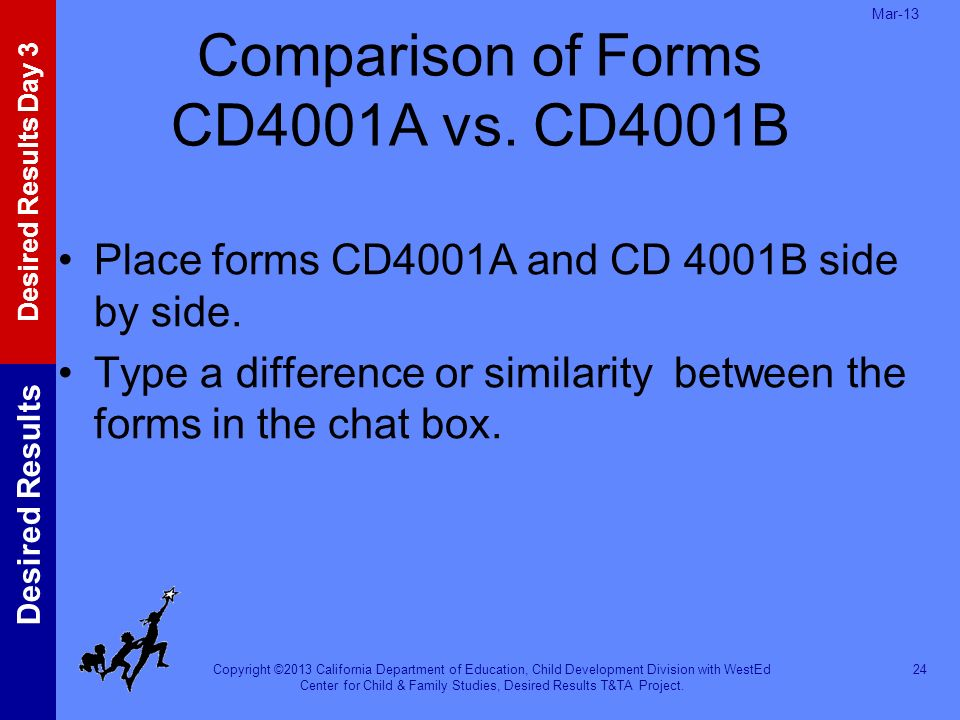 Comparison of Forms CD4001A vs. CD4001B