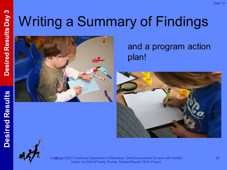 Writing a Summary of Findings