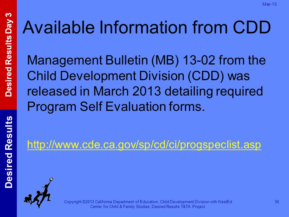 Available Information from CDD