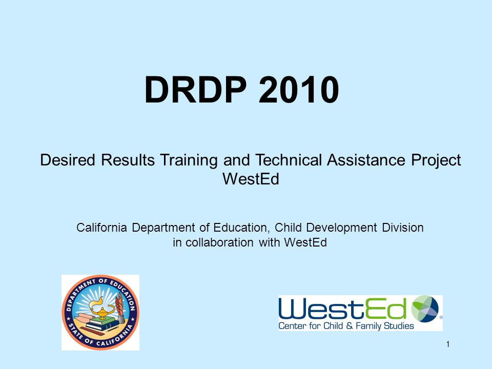 Desired Results Training and Technical Assistance Project