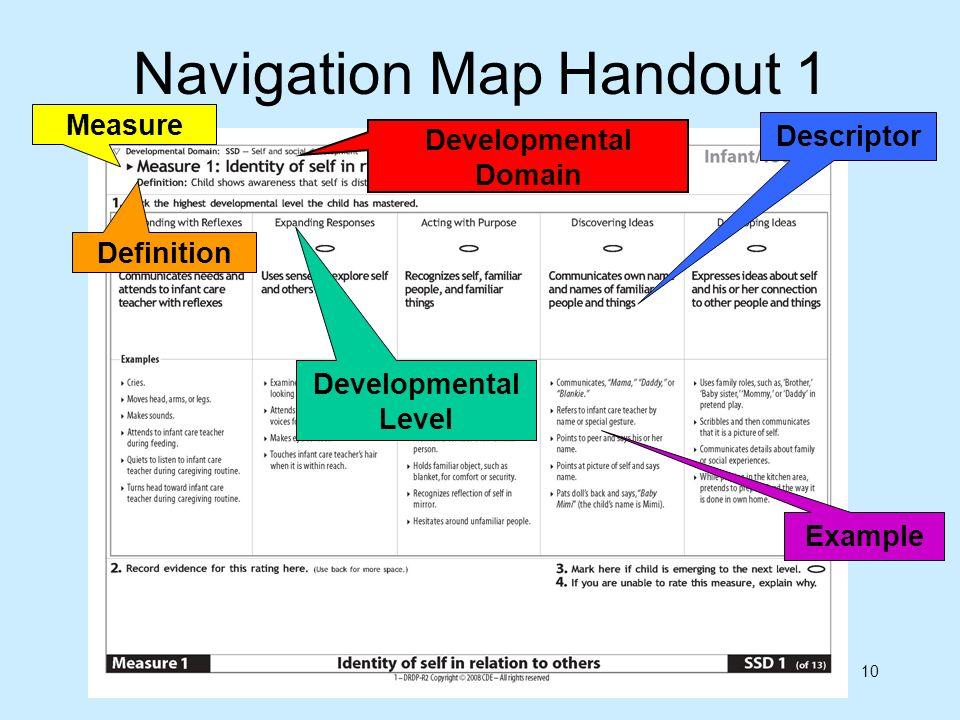 Navigation Map Handout 1
