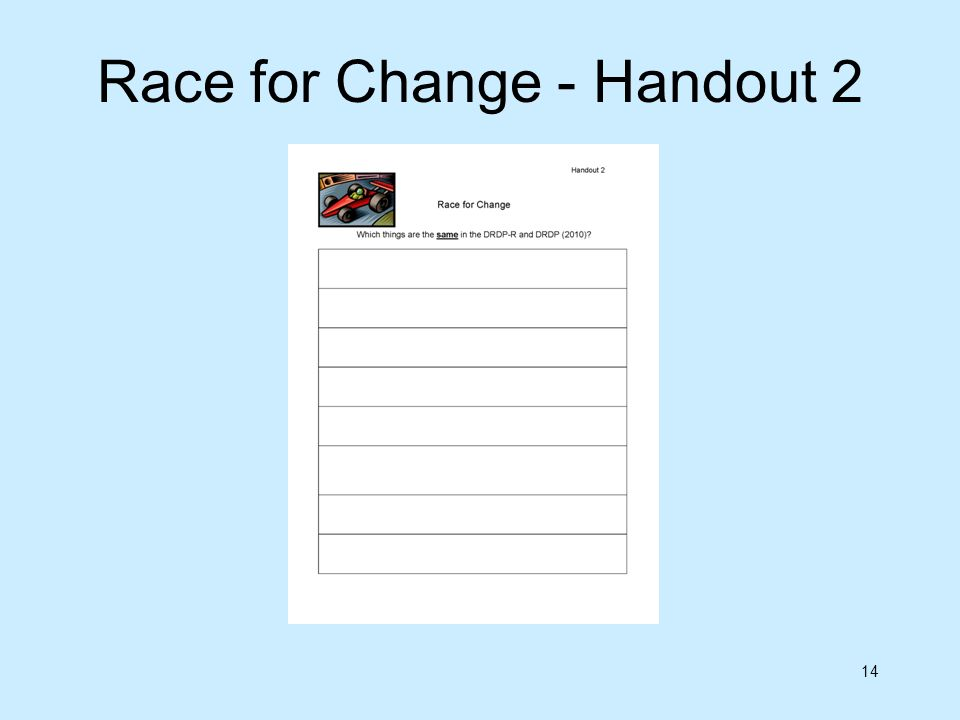 Race for Change - Handout 2