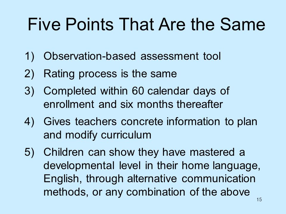 Five Points That Are the Same