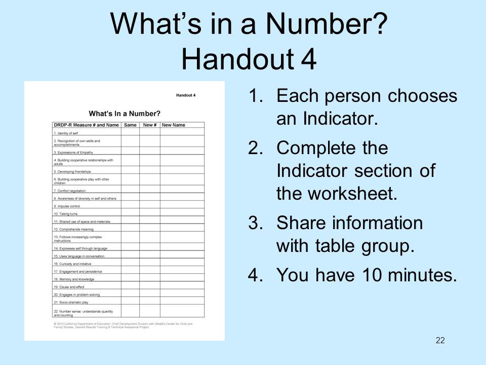 What's in a Number Handout 4