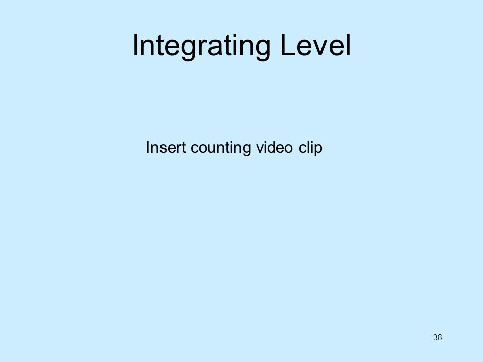 Integrating Level Insert counting video clip
