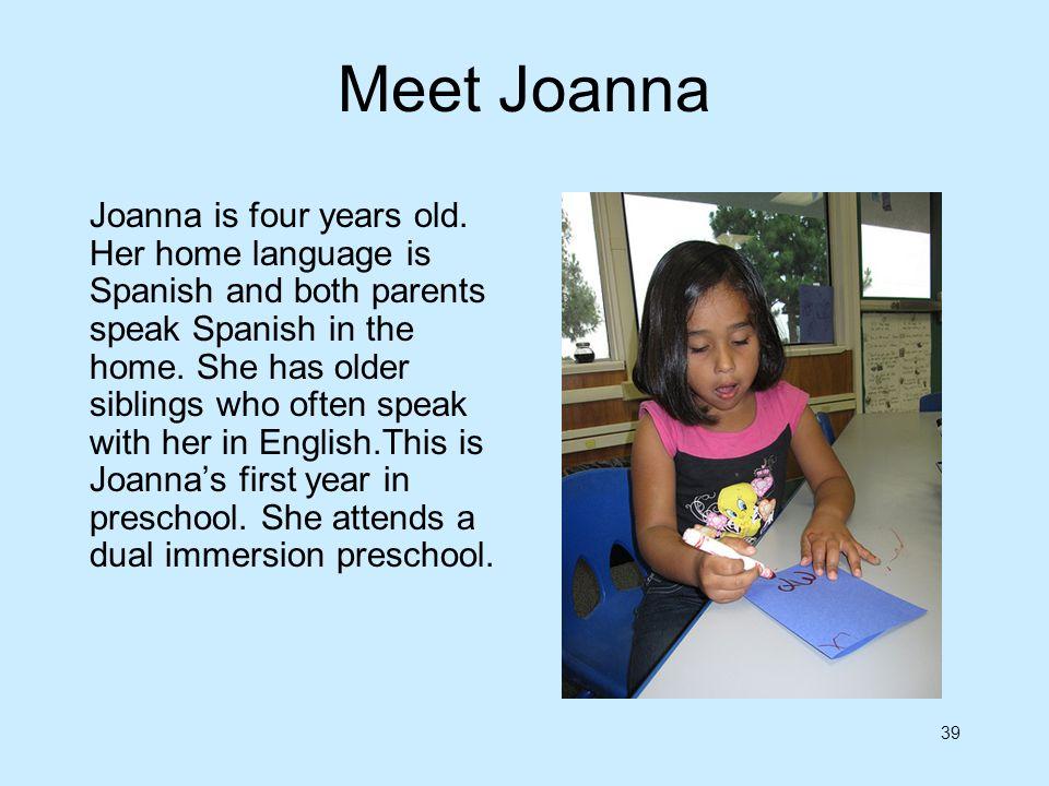 Meet Joanna