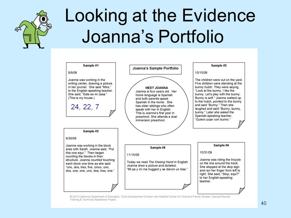 Looking at the Evidence Joanna's Portfolio