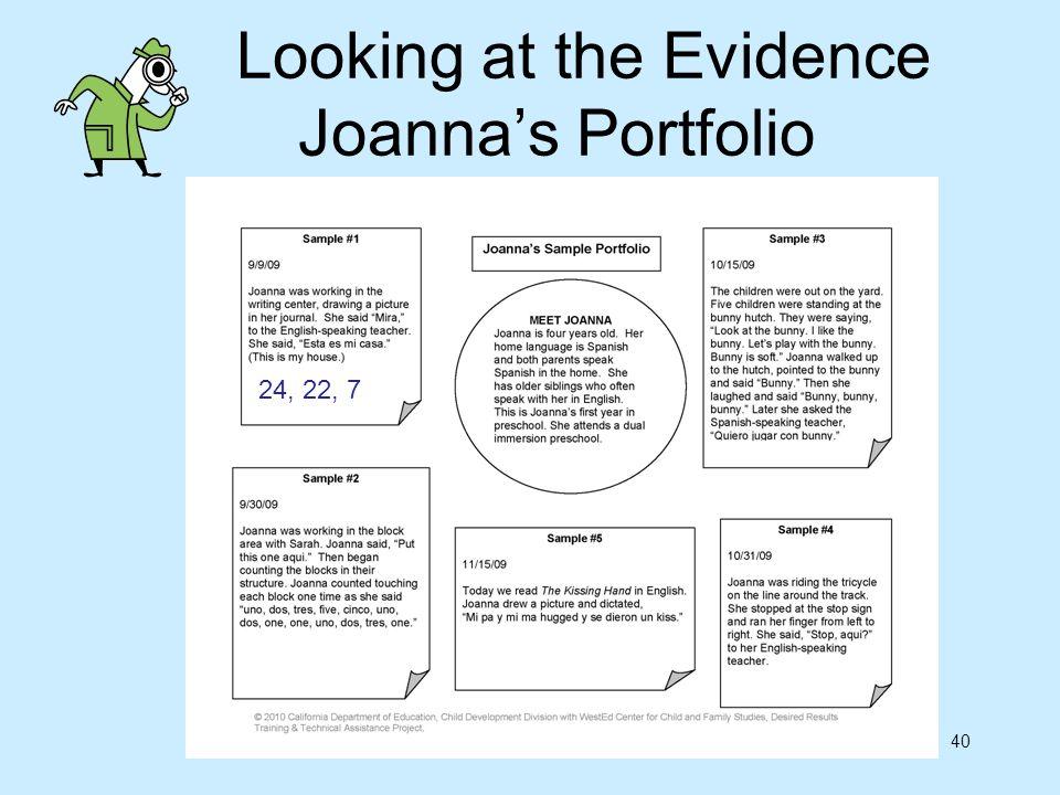 Looking at the Evidence Joanna's Portfolio