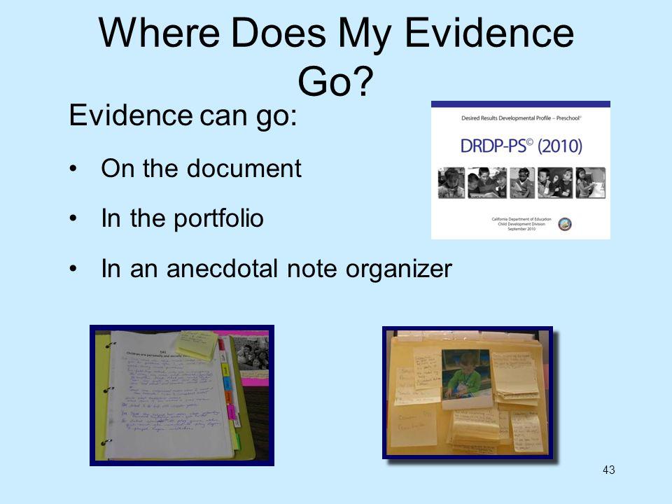 Where Does My Evidence Go