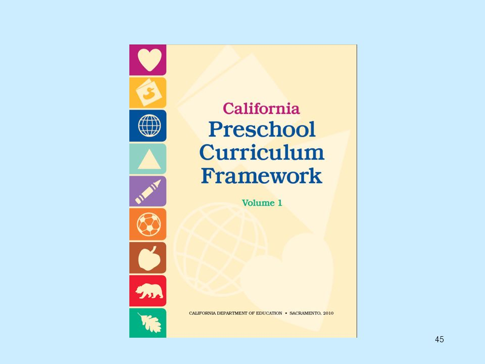 NOTE: The Curriculum framework is to be published by CDE Press and expected to be available in mid May.