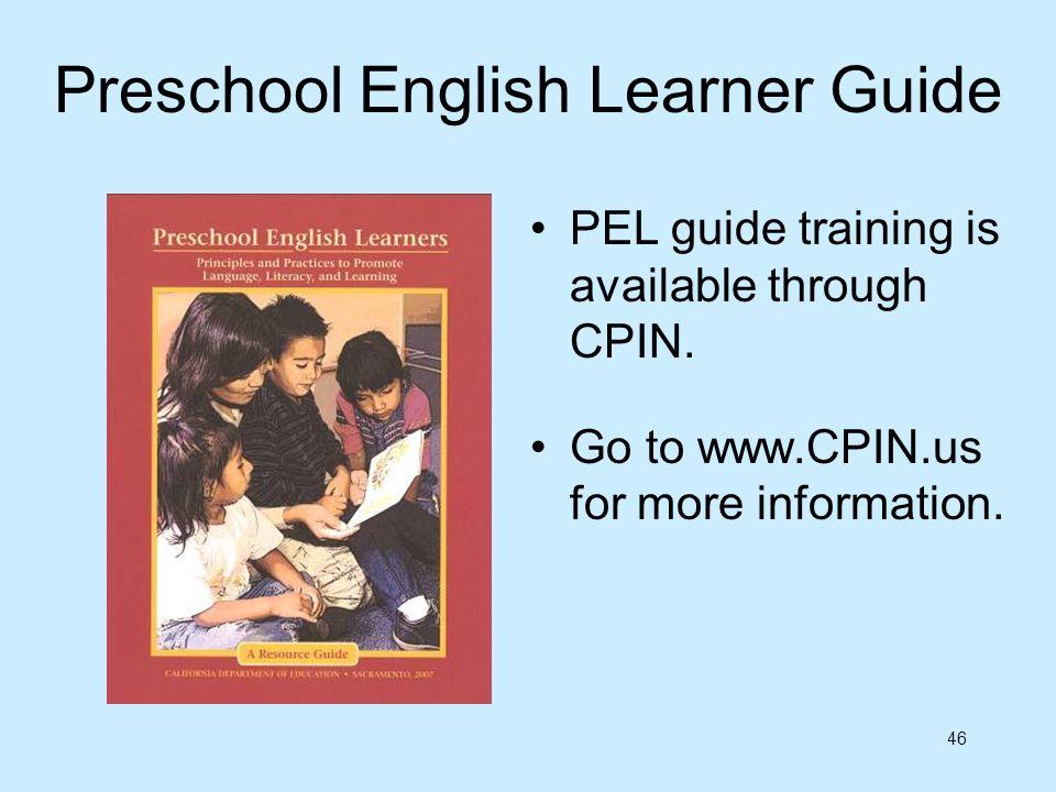Preschool English Learner Guide