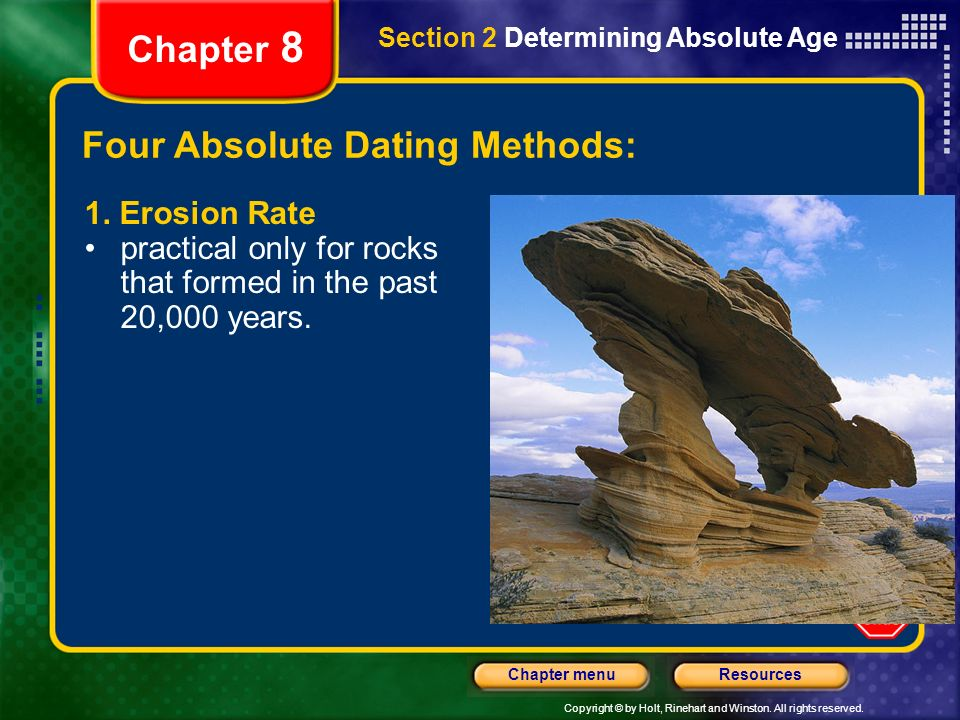 Dating methods geology