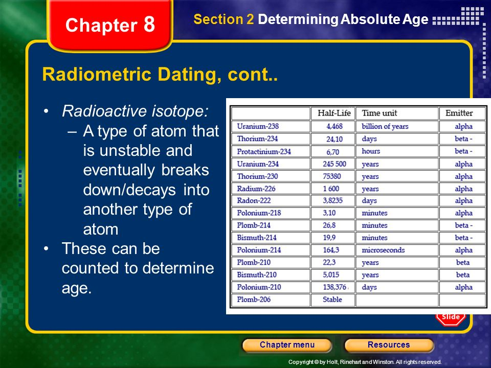 How many types of radiometric dating are there