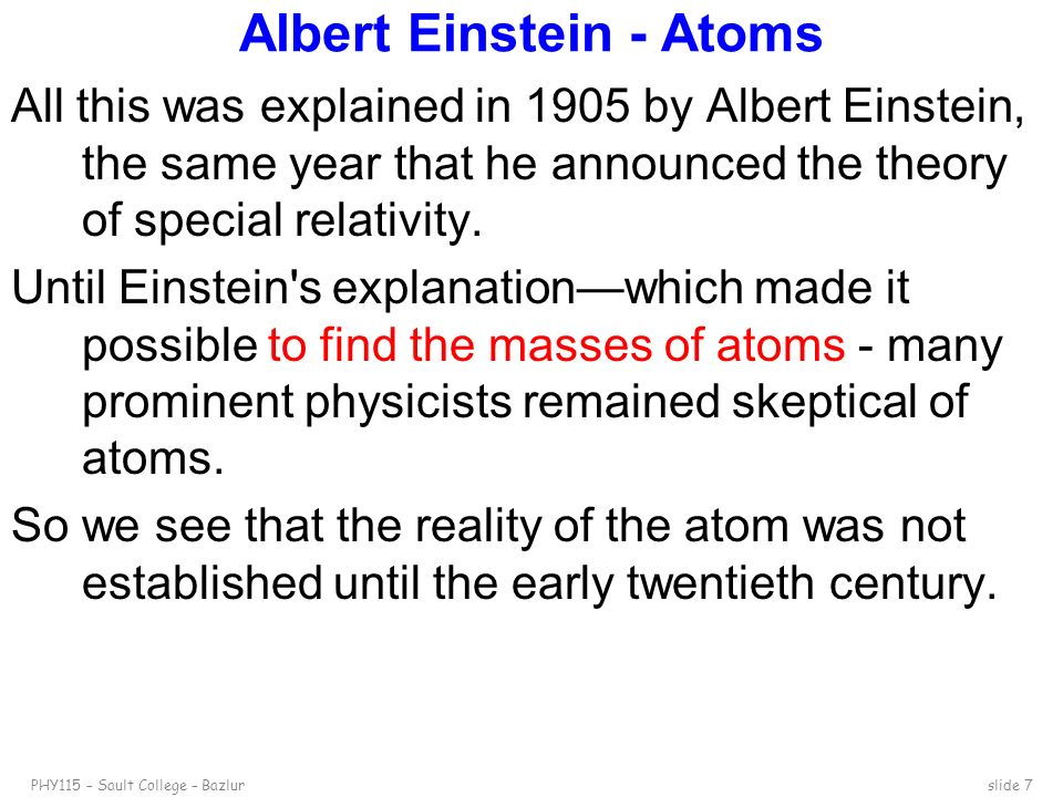 Albert Einstein - Atoms