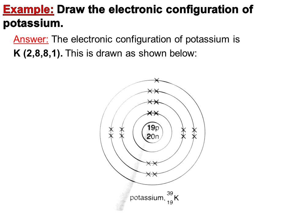 K Electron Configuration Electronic Configurati...
