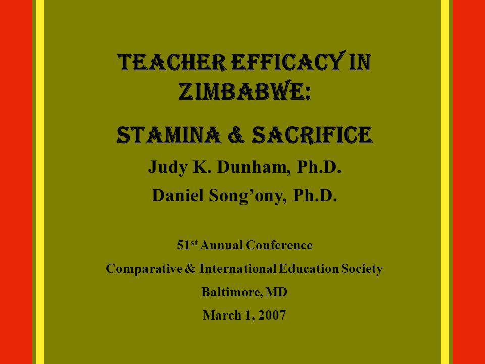 Teacher Efficacy in Zimbabwe: Stamina & Sacrifice