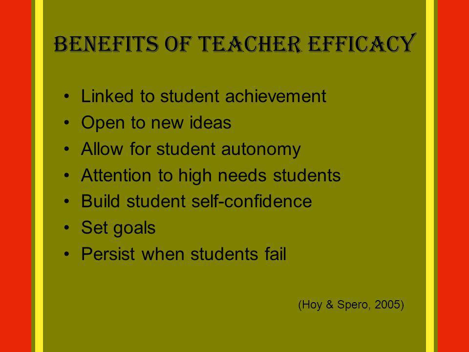 Benefits of Teacher Efficacy