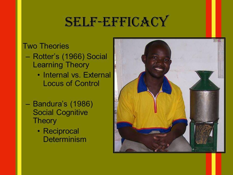 Self-Efficacy Rotter's (1966) Social Learning Theory