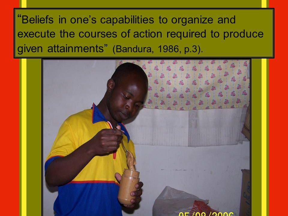 Beliefs in one's capabilities to organize and execute the courses of action required to produce given attainments (Bandura, 1986, p.3).