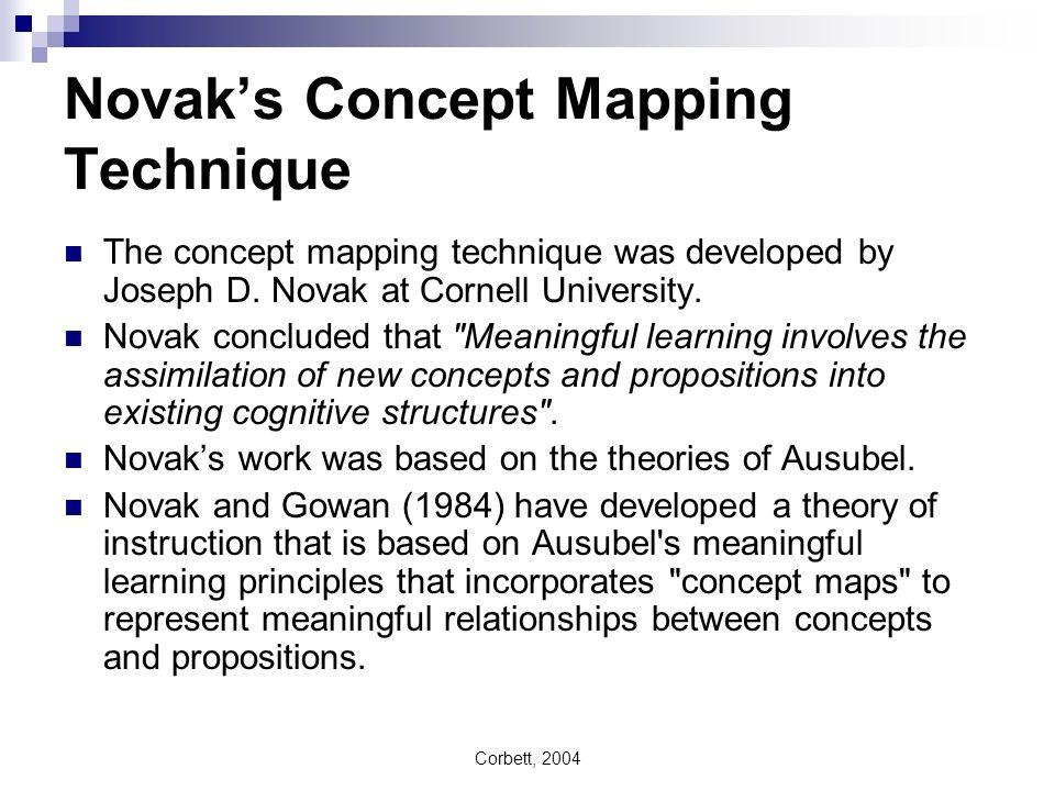 Novak's Concept Mapping Technique