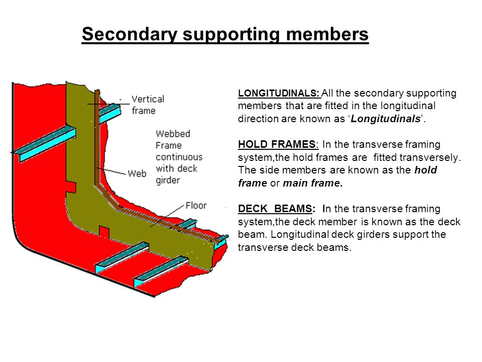 Secondary supporting members