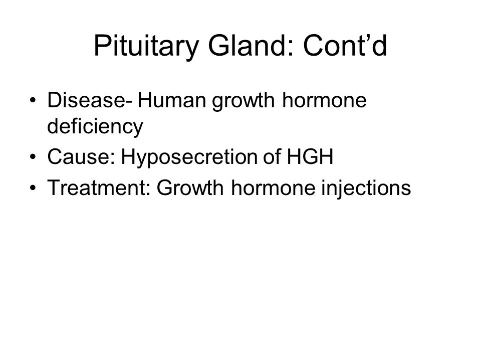 Human growth hormone deficiency