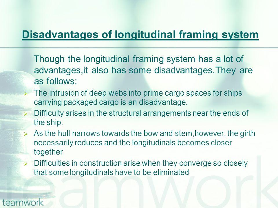 Disadvantages of longitudinal framing system