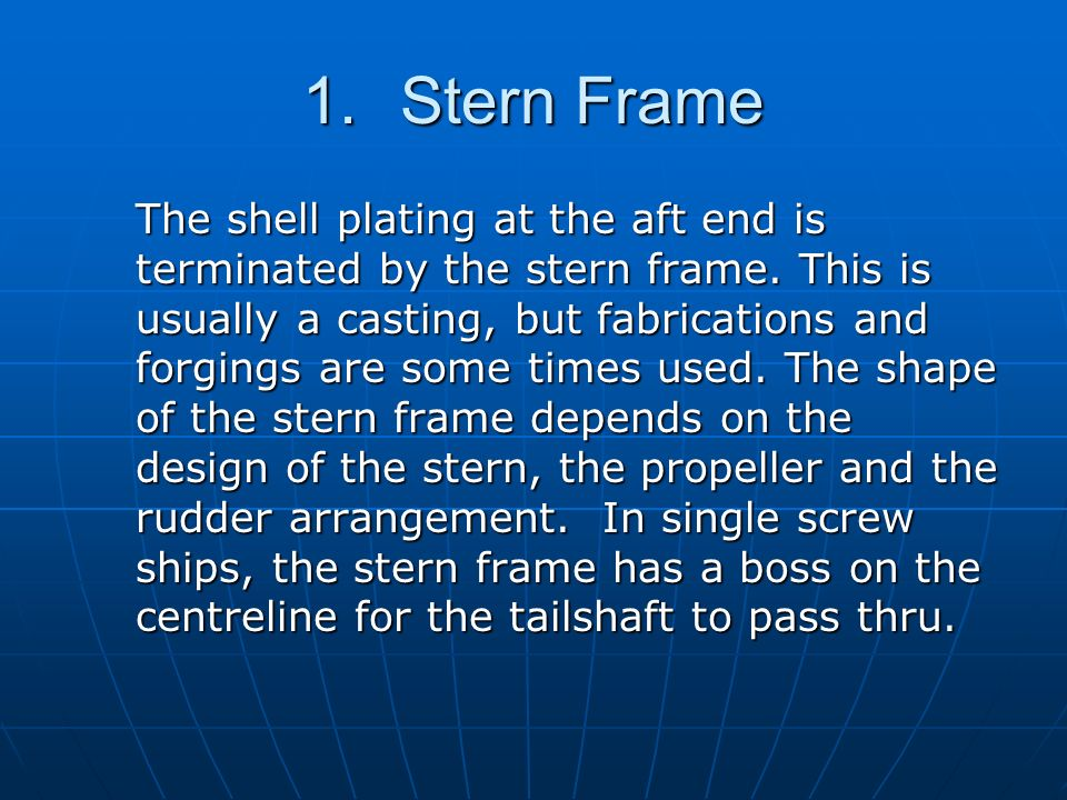 Stern Frame