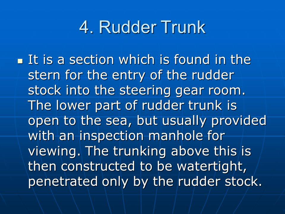 4. Rudder Trunk