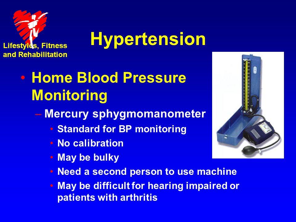 Hypertension Home Blood Pressure Monitoring Mercury sphygmomanometer