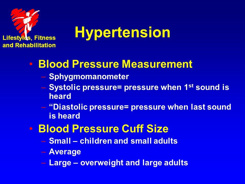 Hypertension Blood Pressure Measurement Blood Pressure Cuff Size