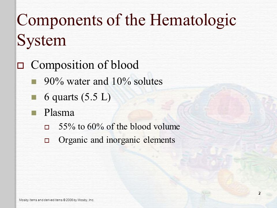 Components of the Hematologic System