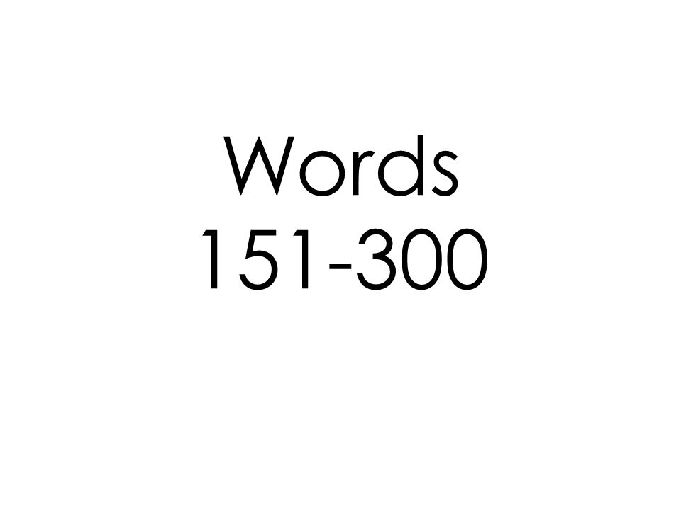 Words 151-300